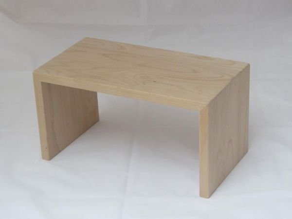 hochwertiger Schemel Holzhocker aus massivem Erlenholz unbehandelt