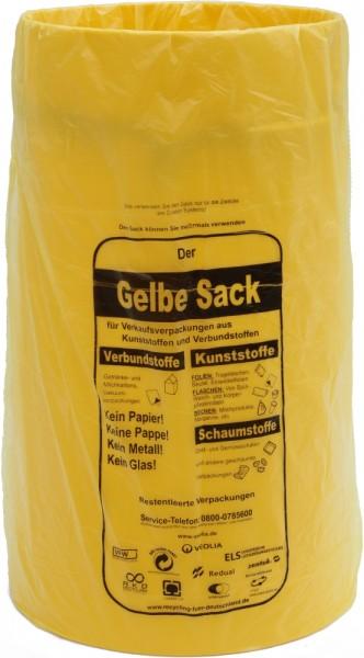 """Sacktonne gelb für gelben Sack """"ohne"""" Deckel, Mülleimer, Wertstoffbehälter, Mülltrennung, Müllstände"""