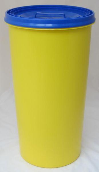 Gelber Sack Ständer gelb mit Deckel blau Müllständer Mülleimer 60 L