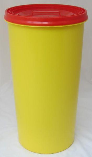 Gelber Sack Ständer gelb mit Deckel rot Müllständer Mülleimer 60 L