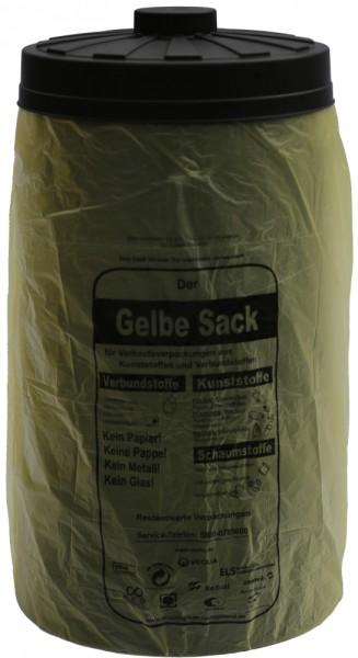 2. Wahl - Sacktonne schwarz für den gelben Sack mit Deckel