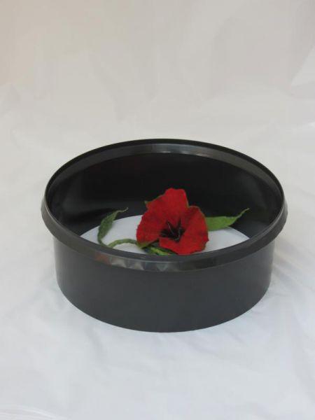 Aquaring, Bewässerungsring, Gießhilfe Set mit 10 Stück in humusschwarz, Durchmesser ca. 36 cm
