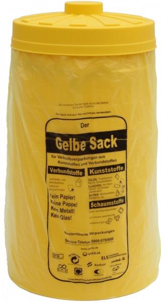Sacktonne gelb für gelben Sack mit gelbem Deckel, Mülleimer,Wertstoffbehälter, Mülltrennung