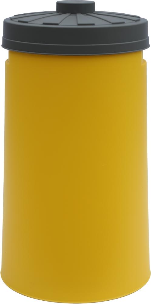 gelbe sacktonne mit deckel f r gelben sack m llsackst nder wertstoffbeh lter will jeder. Black Bedroom Furniture Sets. Home Design Ideas