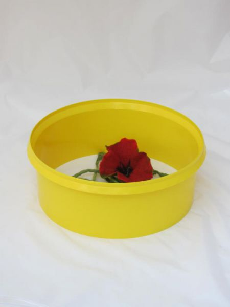 Aquaring, Bewässerungsring, Gießhilfe Set mit 10 Stück in sonnengelb, Durchmesser ca. 36 cm